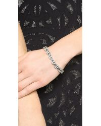 Michael Kors | Metallic Maritime Pave Link Line Bracelet - Silver/Clear | Lyst