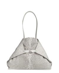 Akris - Gray 'medium Ai' Print Shoulder Tote - Lyst