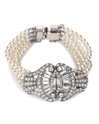 Ben-Amun | White Multi-strand Pearl And Crystal Bracelet for Men | Lyst