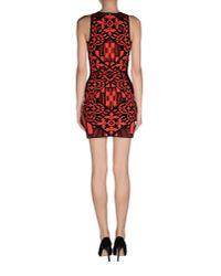 Alexander McQueen - Red Short Dress - Lyst