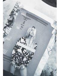 Mango | Gray Printed Image T-shirt | Lyst