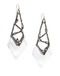 Alexis Bittar | Multicolor Cubist Lucite & Crystal Drop Earrings | Lyst
