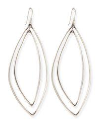 Alexis Bittar Fine - Metallic Marquise Light Silver Orbit Earrings - Lyst