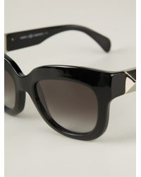 Valentino - Black Cat Eye Sunglasses - Lyst