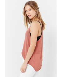 Project Social T | Brown Deep Scoop Tank Top | Lyst