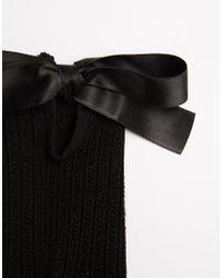 Jonathan Aston - Black Bow Detail Ankle Socks - Lyst