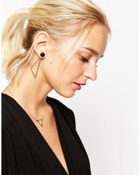 ASOS - Metallic Mismatch Abstract Swing Earrings - Lyst