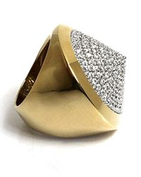 Noir Jewelry | Metallic Pave Cone Pyramid Ring | Lyst
