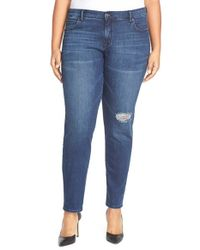 CJ by Cookie Johnson | Blue 'glory' Stretch Slim Boyfriend Jeans | Lyst