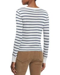 PAIGE | White Allie Long-sleeve Striped Sweater | Lyst