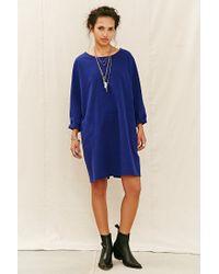 Urban Renewal - Blue Remade Brushed Flannel Shift Dress - Lyst