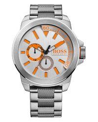 BOSS Orange - Orange Multifunction Bracelet Watch for Men - Lyst