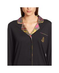 Ralph Lauren - Black Cotton Jersey Pajama Set - Lyst