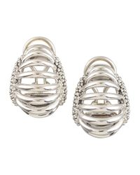 Lagos | Metallic Interlude Clip Earrings | Lyst