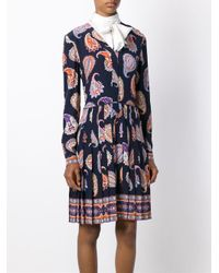 Tory Burch   Multicolor Pleated Paisley Print Dress   Lyst