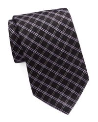 Michael Kors | Black Diamond Plaid Tie for Men | Lyst