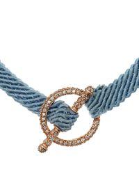 Ruby Kovo - Blue Pave Diamond Toggle Bracelet - Lyst