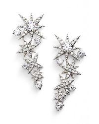 Nadri - Metallic 'starry Night' Linear Stud Earrings - Lyst