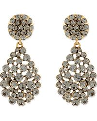 Oscar de la Renta | Gray Jewelled Teardrop Earrings - For Women | Lyst