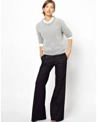 M.i.h Jeans   Blue Valencia Wide Leg Jean in Raw Denim   Lyst