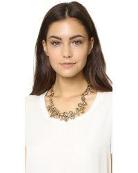 Oscar de la Renta - Brown Crystal Branch Necklace - Topaz - Lyst