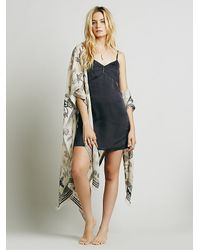 Free People | Gray Intimately Womens Basic Satin Slip | Lyst
