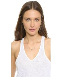 kate spade new york - Metallic Out Of The Bag Cat's Meow Necklace - Gold - Lyst