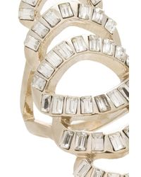 Oasis | White Baguette Stone Cocktail Ring | Lyst