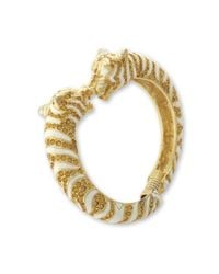 Kenneth Jay Lane | White And Topaz Tiger Bracelet | Lyst