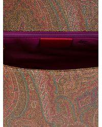 Etro - Multicolor Paisley Print Satchel - Lyst