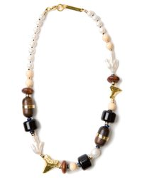 Lizzie Fortunato - Black Shark Tooth Beaded Necklace - Lyst