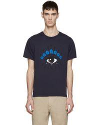 KENZO - Blue Navy Eye Logo T-shirt for Men - Lyst