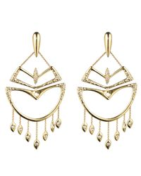 Alexis Bittar - Metallic Kinetic Gold Encrusted Chandelier Earring You Might Also Like - Lyst