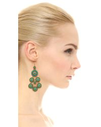 Miguel Ases | Blue Janine 14-Karat Gold Turquoise Earrings | Lyst