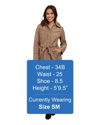 MICHAEL Michael Kors   Brown Quilt Single-breasted Belted Trench   Lyst
