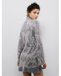 Free People | Gray Modern Love Mini Dress | Lyst