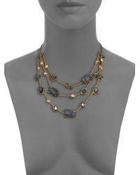 Alexis Bittar - Metallic Elements Punk Labradorite & Crystal Draped Three-strand Station Necklace - Lyst