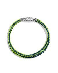 David Yurman | Green Chevron Triple-wrap Bracelet for Men | Lyst