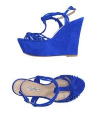 The Seller | Blue Sandals | Lyst