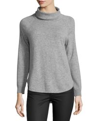MICHAEL Michael Kors - Gray Funnel-neck Long-sleeve Sweater - Lyst