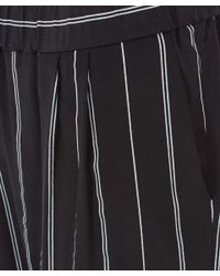 Equipment - Black Pinstripe Relaxed Hadley Trousers - Lyst
