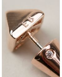 Eddie Borgo - Metallic Pyramid Stud Earring - Lyst