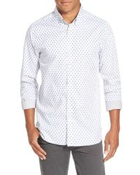 Ted Baker | White 'fillips' Trim Fit Print Sport Shirt for Men | Lyst