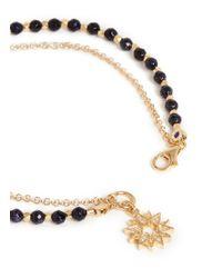 Astley Clarke - Metallic 'Sun' 18K Gold Blue Goldstone Friendship Bracelet - Revival & Light - Lyst