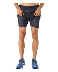 "Brooks | Black Sherpa 7"" 2-in-1 Shorts for Men 