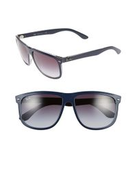Ray-Ban | Blue 'flat Top Boyfriend' 60mm Sunglasses for Men | Lyst