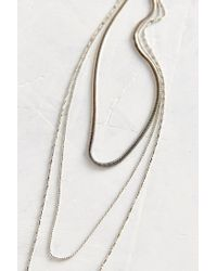 Urban Outfitters - Metallic Downtown Layered Chain Necklace - Lyst