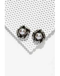 Cocoa Jewelry | Metallic Martina Alloy Stud Earrings | Lyst