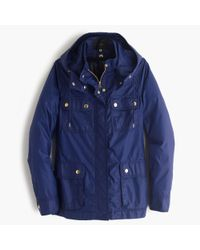 J.Crew - Blue Hooded Downtown Field Jacket With Zip-out Vest - Lyst