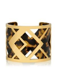 Tory Burch | Metallic Aislin Resin Cuff | Lyst